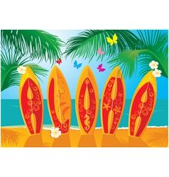 Summer holiday postcard vector