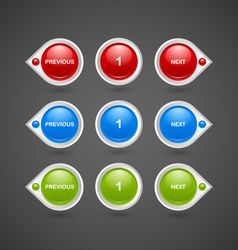 Pagination buttons vector