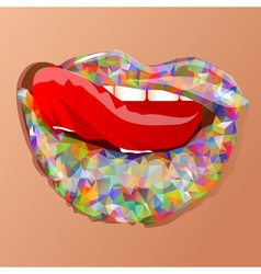 Abstract multicolor lips vector