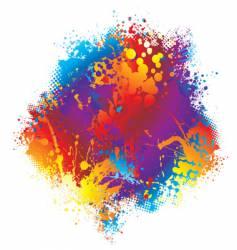 Ink rainbow halftone vector