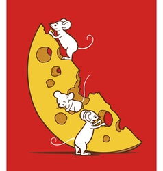 Mice and cheese vector