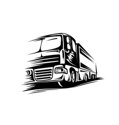 Big moving truck vector