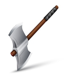 Stainless steel axe vector