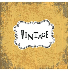 Vintage retro grungy card vector