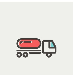 Fuel truck thin line icon vector