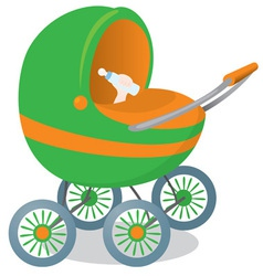 Child in a stroller vector