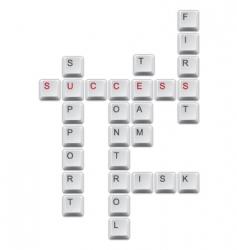 Succes crossword vector