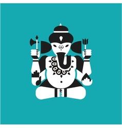 Indian elephant god ganesha vector