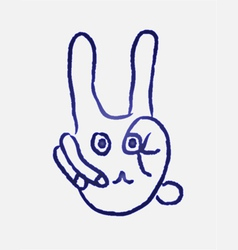 Rabbit finger vector
