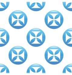 Maltese cross sign pattern vector