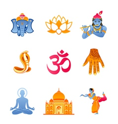 India icons vector