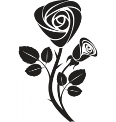 rose art illustration vector