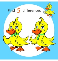 Find five differences duck vector