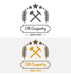 Vintage logo label badge and logotype elements vector