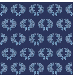 Vintage seamless wallpaper blue vector