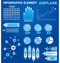 Infographics elements airplane vector