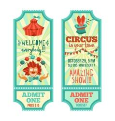 Circus tickets set vector