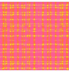 Plaid pattern with crossing watercolor lines vector