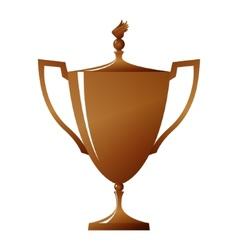 Cup of winner bronzed trophy cup vector