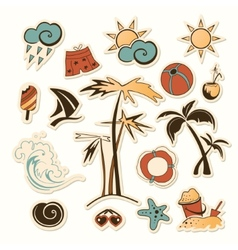 Collection of sea beach vector