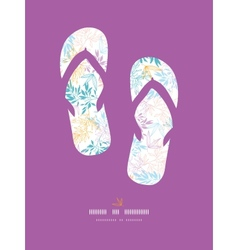 Colorful pastel branches flip-flops decor pattern vector