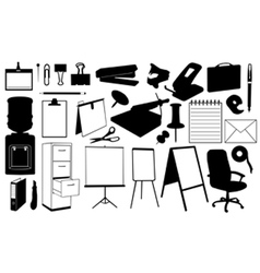 Office supplies set vector