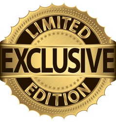 Limited edition exclusive golden label vector