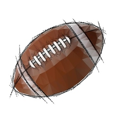 American football isolated on a white background vector