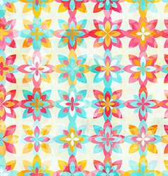 Abstract color flowers seamless pattern vector