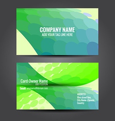 Simple and attractive business card vector