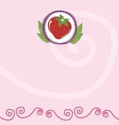 Strawberry memo vector