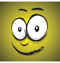 Emotions yellow happy vector