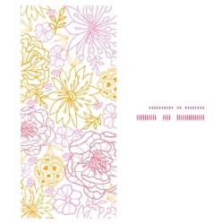 Flowers outlined vertical frame seamless vector