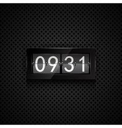 Flip clock vector