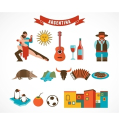 Argentina - set of icons vector