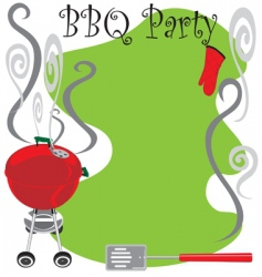 Bbq party invitation vector