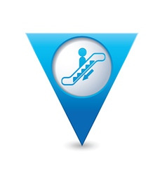 Escalator icon map pointer2 blue vector