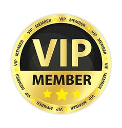 Vip member golden badge vector