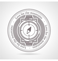 Abstract of compass icon with vector
