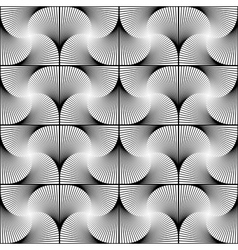 Design seamless twirl movement striped pattern vector