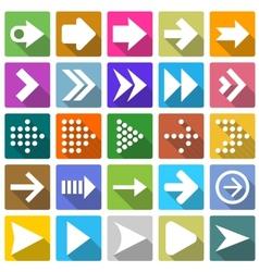 25 arrow icon set vector