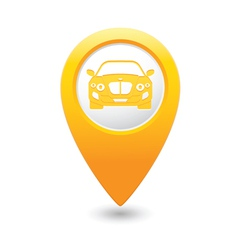 Car map pointer yellow vector