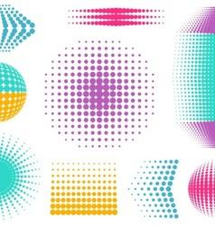 Halftone design elements vector