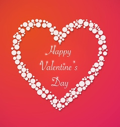 Happy valentines day background with heart love vector