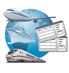 Travel tickets vector