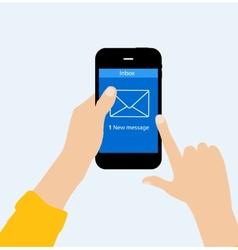 Inbox mail flat concept vector