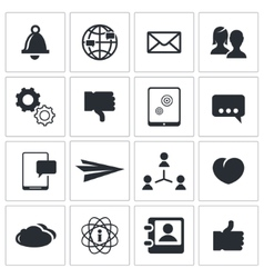 Social icons set vector