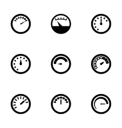 Meter icon set vector