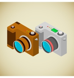 Isometric foto camera vector