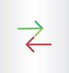 Two arrows direction symbol vector